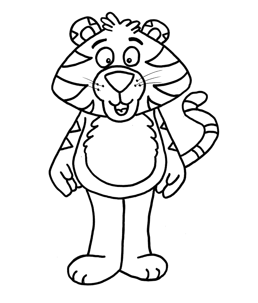 Funny Tiger Standing