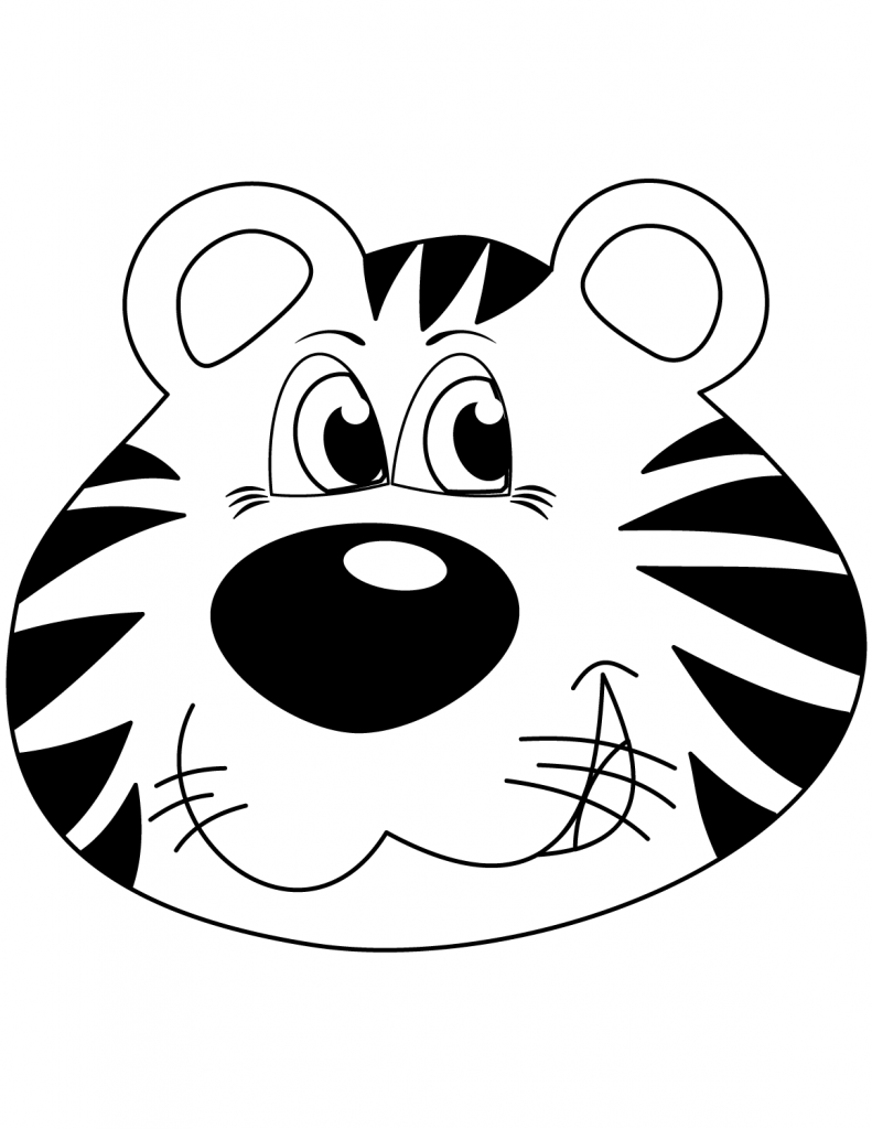 Cartoon Tiger Face