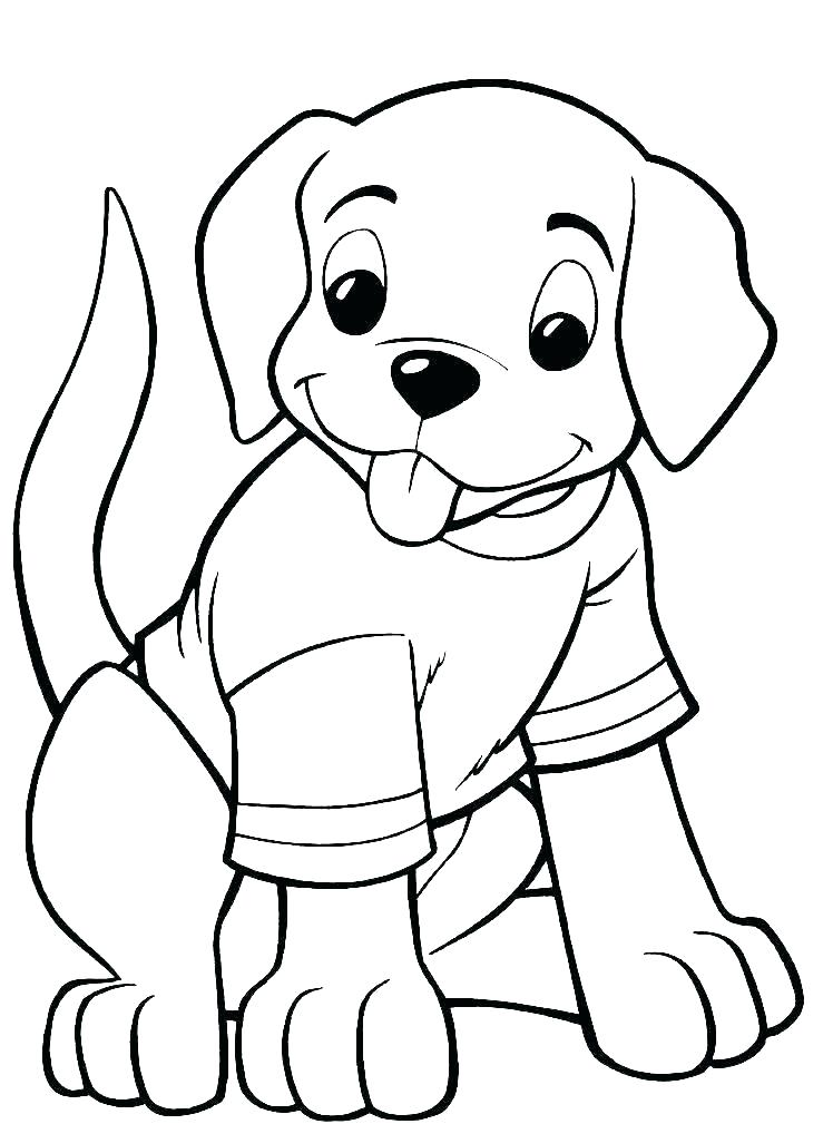 Printable A Dog Wearing T Shirt Coloring Page For Both Aldults And Kids