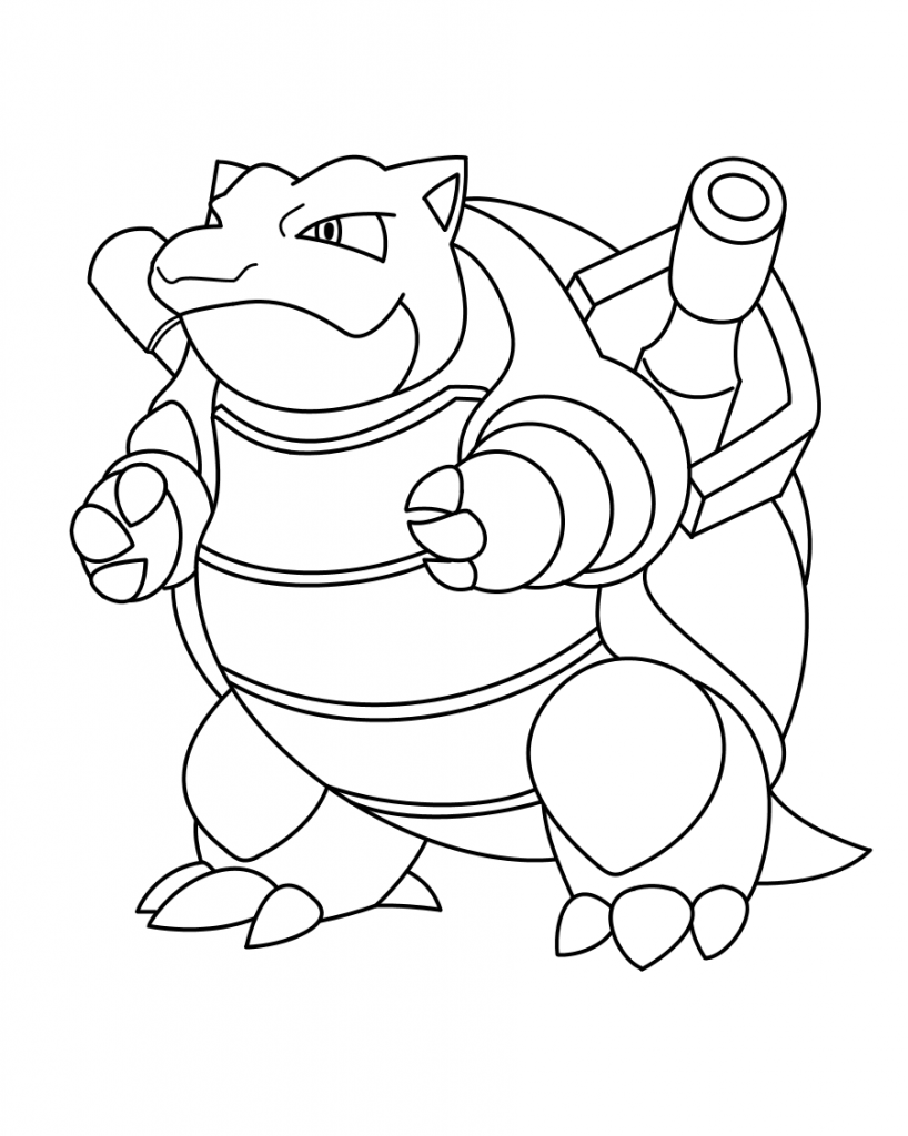 Printable Blastoise Coloring Page For