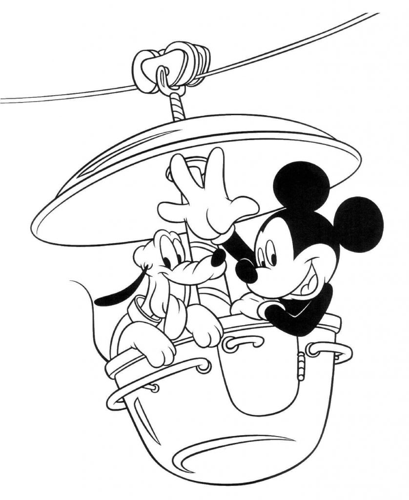 Mickey With Pluto