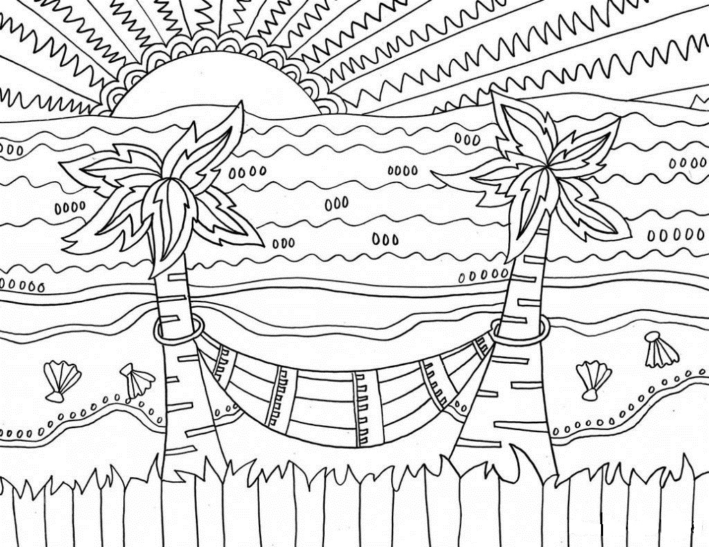 Nature Coloring Pages - Printable Free For Adults and Kids