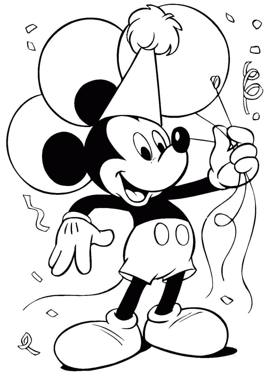 Mickey With Balloons