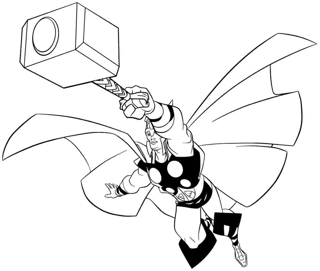 Thor Flying With Hammer