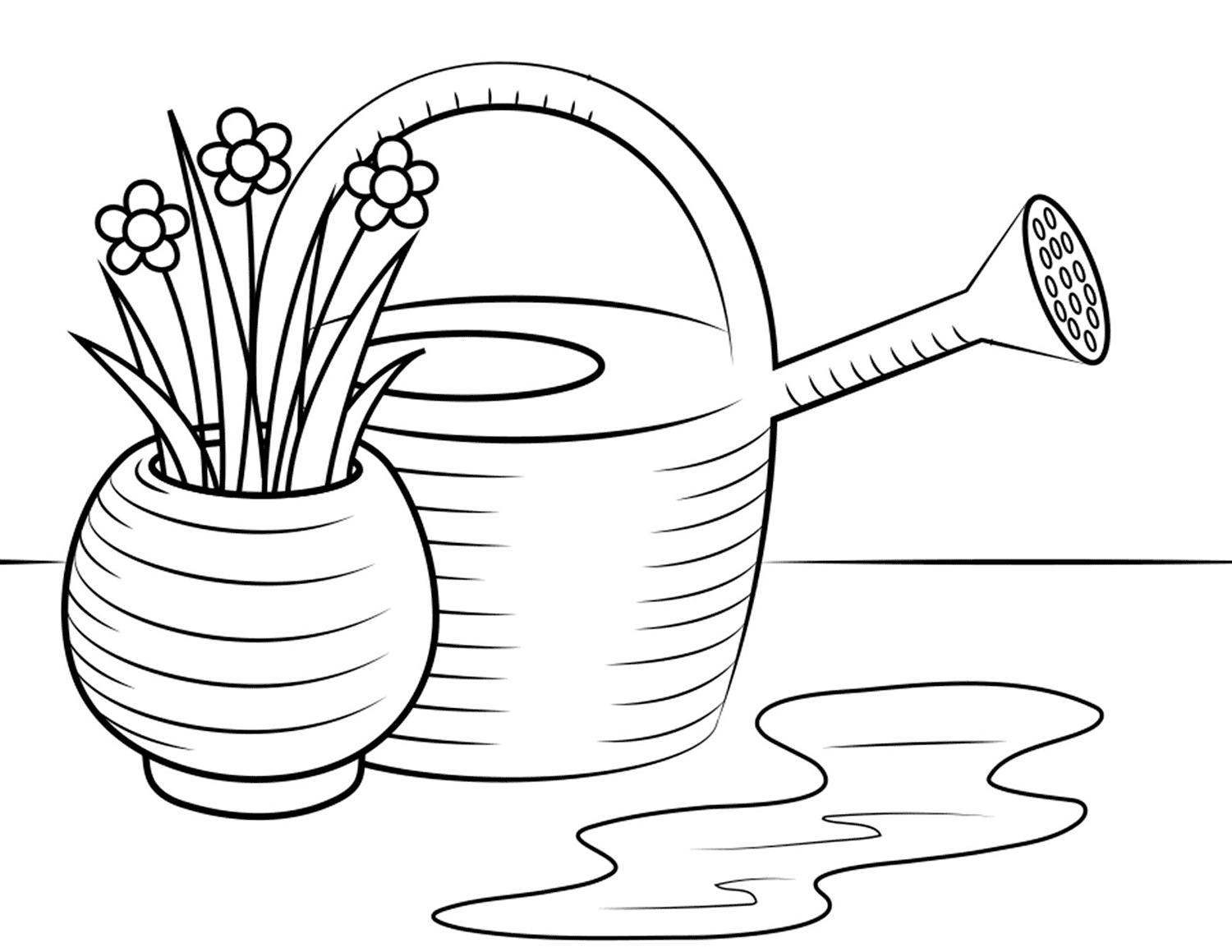 Watering Cane With Flowers