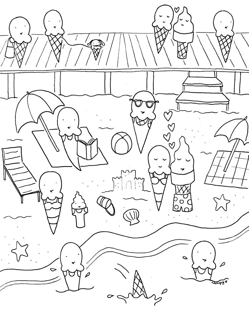 Beach for Ice Cream