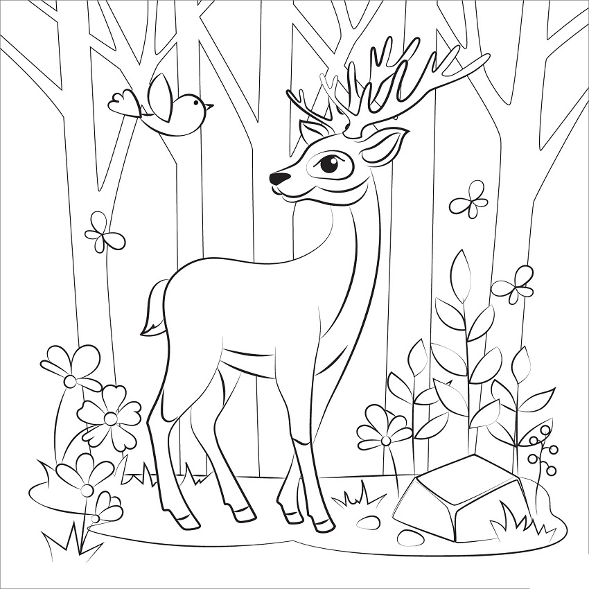 Reindeer in the Wood